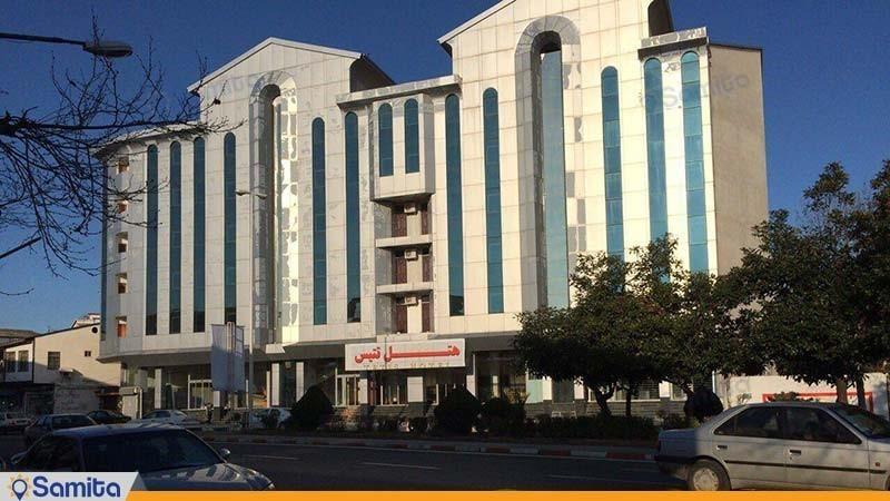 نمای ساختمان هتل تتیس