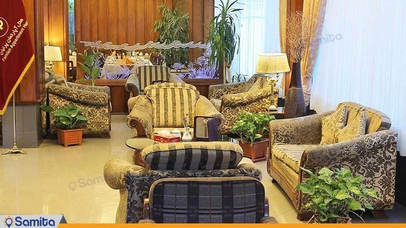 لابی هتل آپارتمان پرنیان مشهد