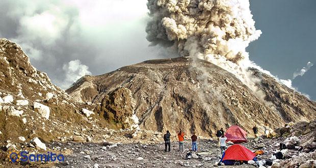 فوران کوه آتشفشان سانتیاگوایتو