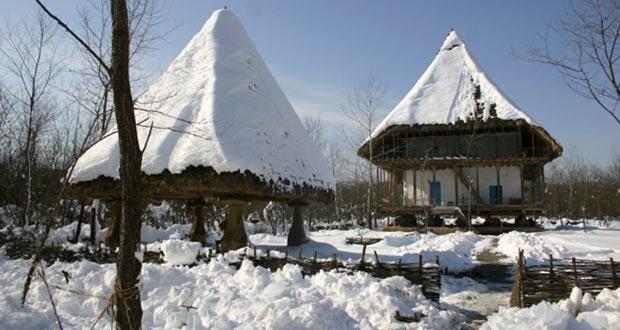 برف زمستانی و مناظر زیبا